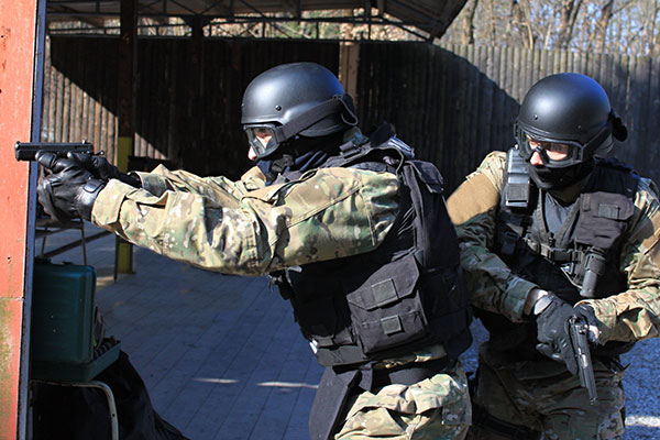Tactical Unit in training