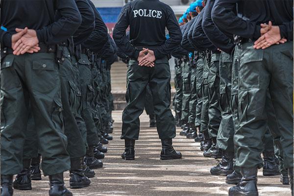 Ranks of police in training